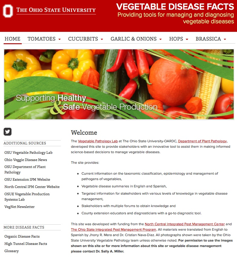 veg web page